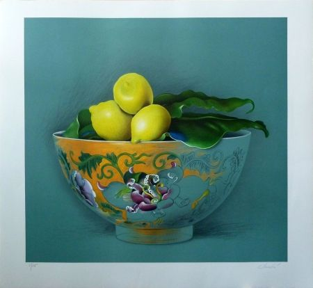 Lithographie Donadini - Still Life with Lemons