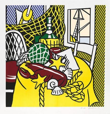 Sérigraphie Lichtenstein - STILL LIFE WITH LOBSTER