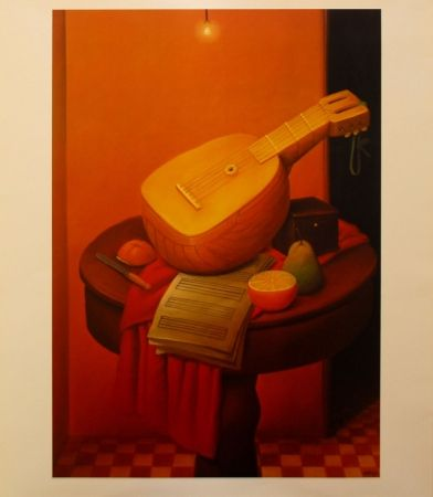 Lithographie Botero - Still Life with Mandoline