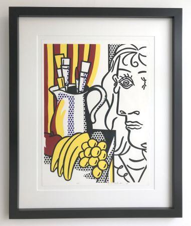 Sérigraphie Lichtenstein - Still life with Picasso