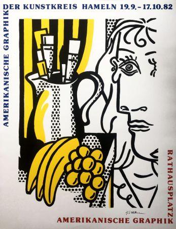 Sérigraphie Lichtenstein - Still Life with Picasso (Hand Signed) Pop Art Poster 1982