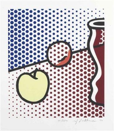 Sérigraphie Lichtenstein - Still Life with Red Jar