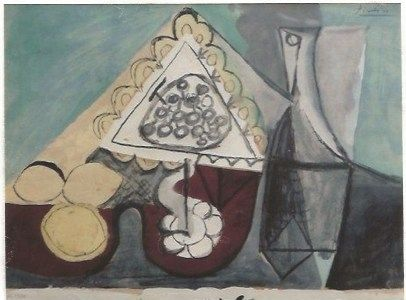 Pochoir Picasso - Still with grapes