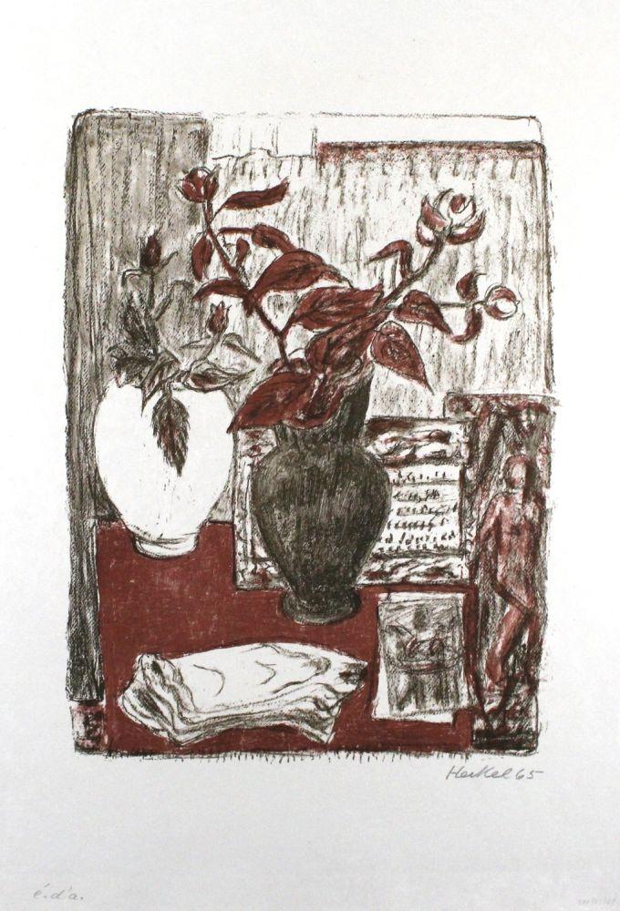 Lithographie Heckel - Stilleben
