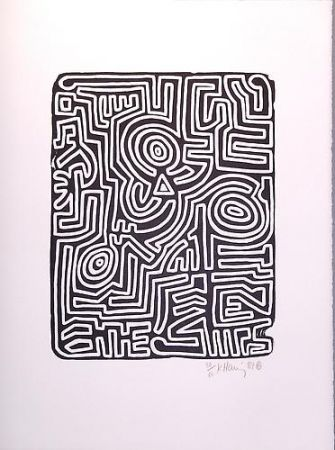 Lithographie Haring - Stones 3