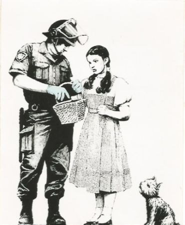 Sérigraphie Banksy - Stop and search