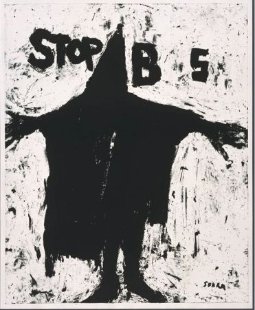 Lithographie Serra - Stop BS