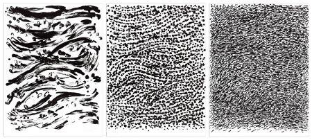 Lithographie Uecker - Strömung, 2010 - 3 Blätter