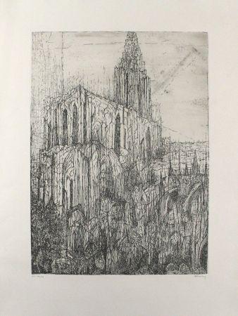 Gravure Eliasberg - Strassburger Münster