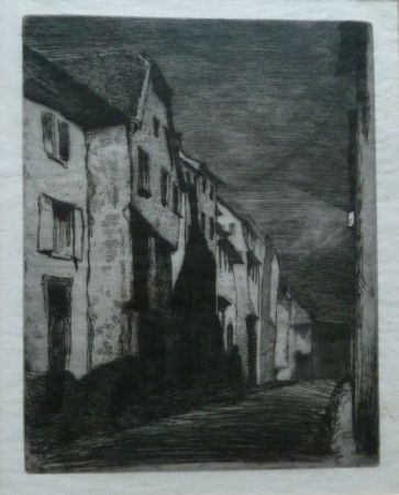Gravure Whistler - Street at Sauverne