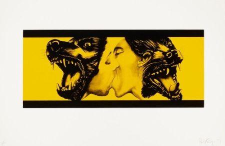 Eau-Forte Et Aquatinte Longo - Strong in Love (Yellow),