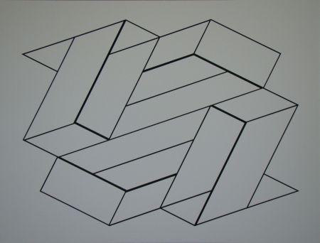 Sérigraphie Albers - Strukturale Konstellation