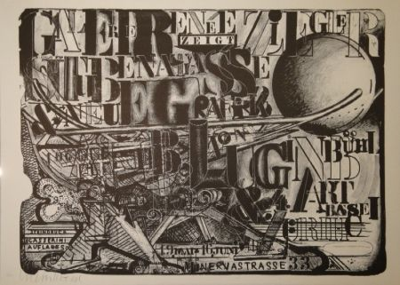 Lithographie Luginbühl - Stubenatlasse