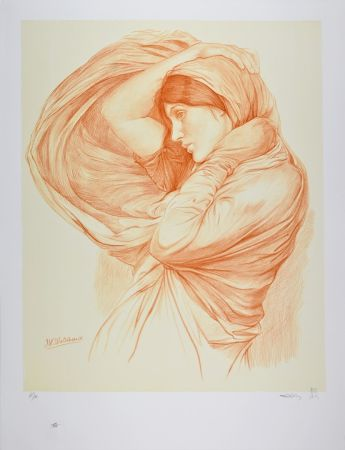 Lithographie Waterhouse - Study for Boreas, 1904