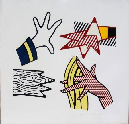 Lithographie Lichtenstein - Study of Hands