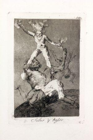 Eau-Forte Et Aquatinte Goya - Subir Y Bajar