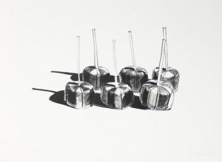 Lithographie Thiebaud - Suckers State I,