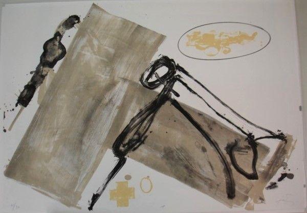 Lithographie Tàpies - Suite 63 x 90