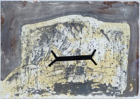 Lithographie Tapies - Suite 63 X 90 (No 6)