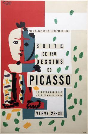 Lithographie Picasso - SUITE DE 180 DESSINS. VALLAURIS VERVE 29-30. 1953-1954