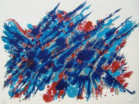 Lithographie Manessier - Suite de Pâques Le sang et l'eau