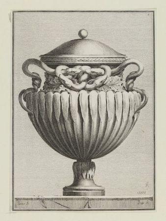 Gravure Bossi - Suite des vases tirée du cabinet de Monsieur...