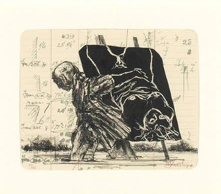 Lithographie Kentridge - Summer Graffiti Series (Archived Editions)