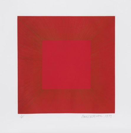 Aquatinte Anuszkiewicz - Summer Suite (Red with Gold I)
