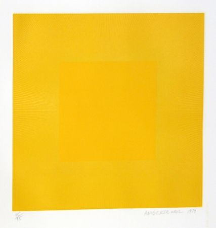 Eau-Forte Et Aquatinte Anuszkiewicz - Summer Suite (Yellow with Yellow)