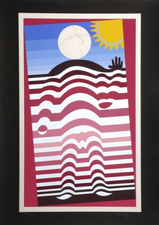 Sérigraphie Vasarely - Sunbather