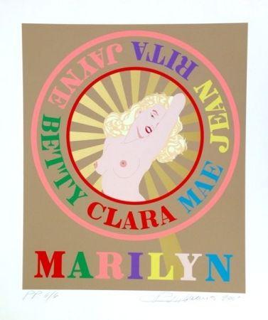 Sérigraphie Indiana - Sunburst Marilyn