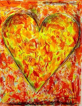 Lithographie Dine - Sunflower