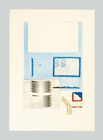 Lithographie Bonalumi - Superficie