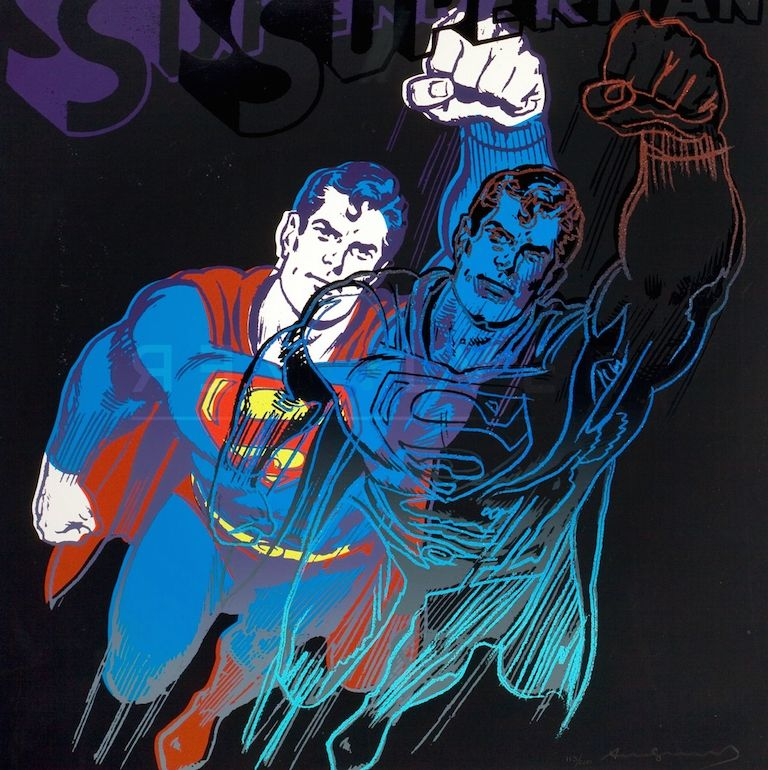 Sérigraphie Warhol - Superman (FS II.260)
