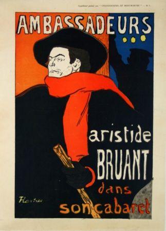 Affiche Toulouse-Lautrec - Supplément  Chansonniers de Montmartre  Aristide Bruant