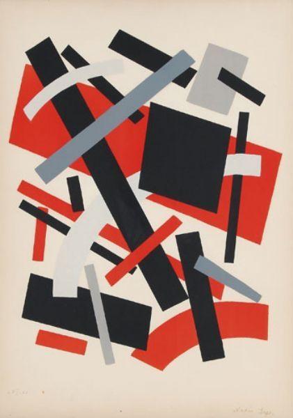 Lithographie Léger Khodossievitch - Suprématisme I