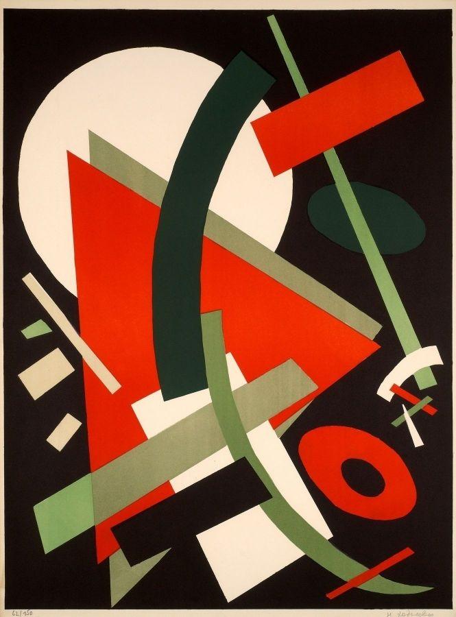 Lithographie Léger Khodossievitch - SUPREMATISME AU TRIANGLE