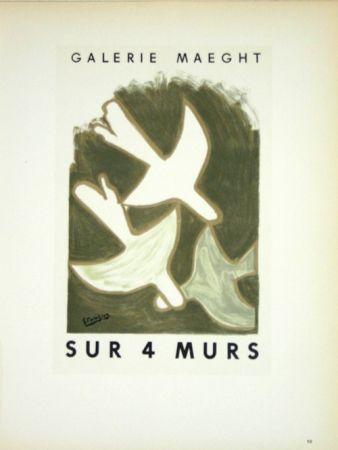Lithographie Braque - Sur 4 Murs
