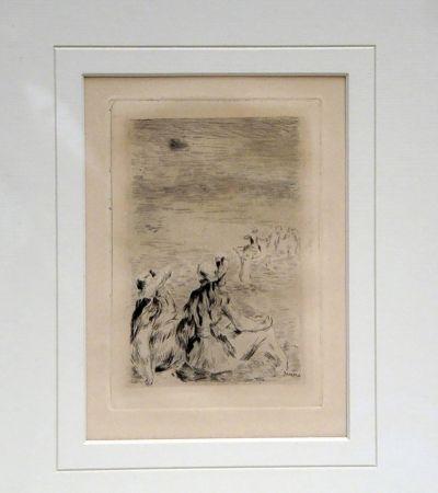 Gravure Renoir - Sur la Plage a Berneval
