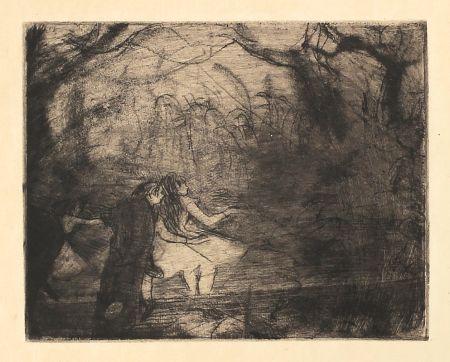 Eau-Forte Et Aquatinte Degas - Sur la scène 3