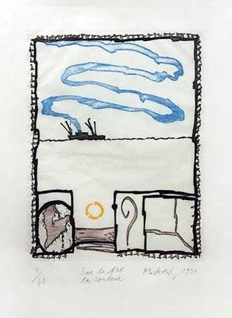 Gravure Alechinsky - Sur Le Fil La Couleur