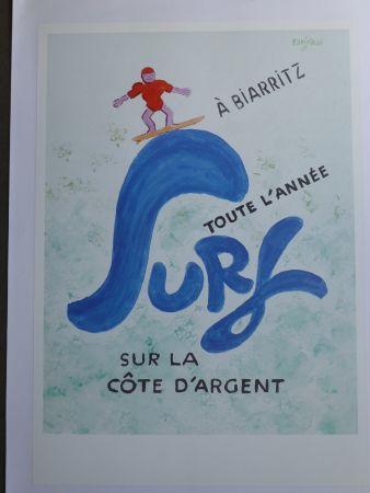 Affiche Savignac - Surf à Biarritz toute l'année sur la côte d'argent