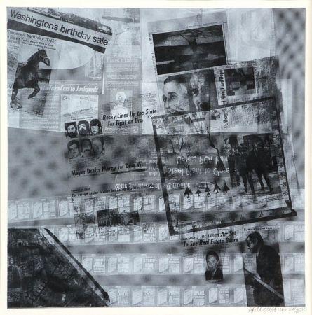 Sérigraphie Rauschenberg - Surface series