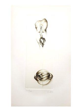 Lithographie Deux - Surréalisme Gris VI