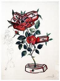 Pointe-Sèche Dali - Surrealistic Flowers, 539, Rosa e morte floriscens
