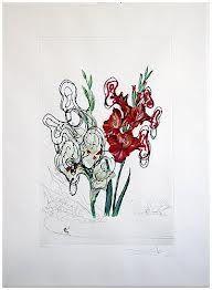 Pointe-Sèche Dali - Surrealistic Flowers, 541, Gladiolus cum aurium corymbo expectantium