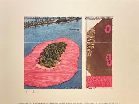 Lithographie Christo - Surronded islands, Miami