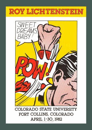 Sérigraphie Lichtenstein - Sweet Dreams, Baby! (Hand Signed)