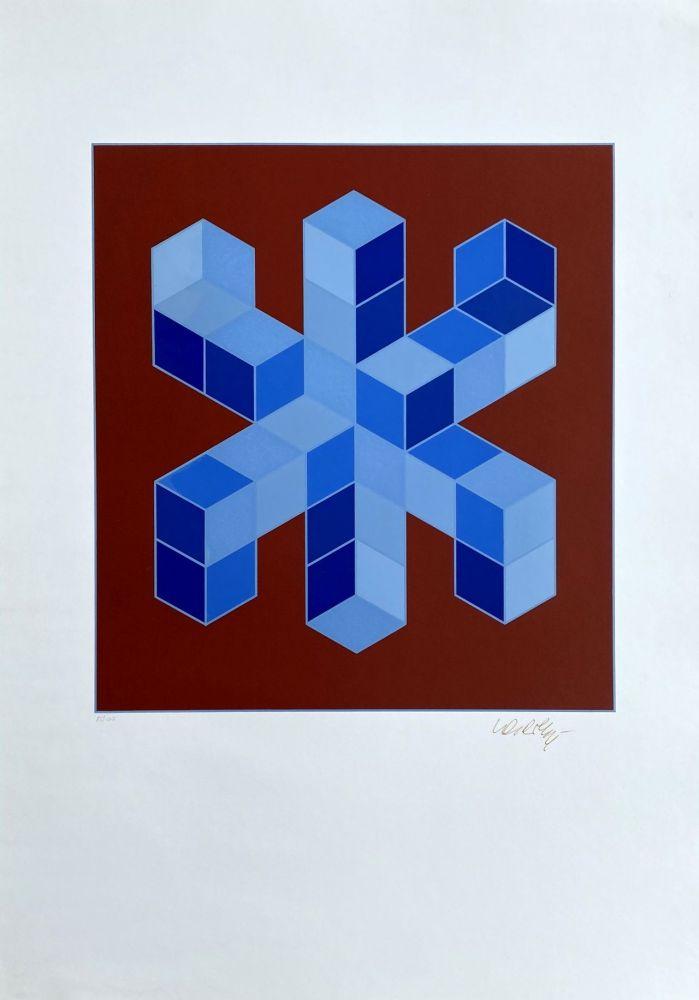 Sérigraphie Vasarely - Sylla-6