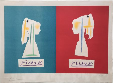 Lithographie Picasso - SYLVETTE DE PROFIL (1954).